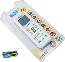 HQRP Universal Remote Control Compatible with Soleus Air SG-CAC-08ESE SG-CAC-10SE SG-CAC-12SE Air Conditioner Coaster