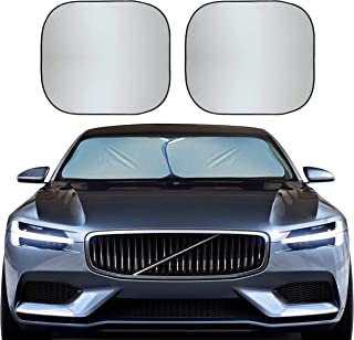 EcoNour Foldable 2-Piece Sun Shade for Car Windshield | Total Sun Heat and UV Protection with Automotive Interior Sun Prot...