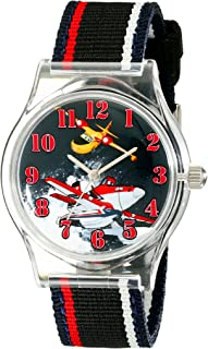 Disney Kids' W001814 Planes Black Analog Watch