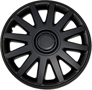 TuningPros WSC-610B17 Hubcaps Wheel Skin Cover 17-Inches Matte Black Set of 4