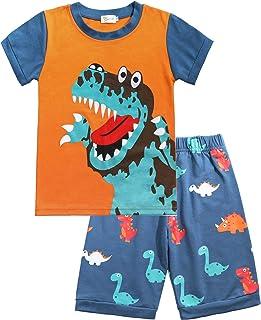 Tarkis Boys Pyjamas Fire Engine / Dinosaur / Digger Cotton Kids Short Sleeve Pyjamas 92 98 104 110 116 122