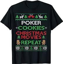 Online Poker Player Gift Texas Hold Em Poker Ugly Christmas T-Shirt