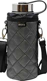 MIRA Water Bottle Carrier for Wide Mouth Insulated Bottles | Fits, Hydro Flask, Camelbak, Takeya Wide Mouth Bottles | Adjustable Shoulder Strap with Carry Handle Bottle Bag