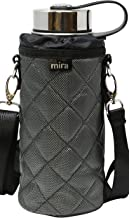 MIRA Water Bottle Carrier for Wide Mouth Insulated Bottles | Fits, Hydro Flask, Camelbak, Takeya Wide Mouth Bottles | Adju...