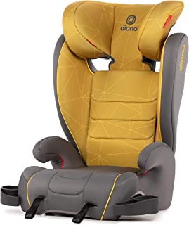 Diono Monterey XT Latch, 2-in-1 Belt Positioning Booster Seat with Expandable Height/Width, Yellow Sulphur