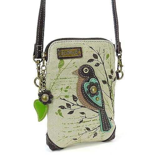 066748285a5 Chala Crossbody Cell Phone Purse-Women Canvas Multicolor Handbag with  Adjustable Strap