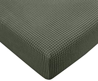 Subrtex Spandex Elastic Couch Stretch Durable Slipcover Furniture Protector Slip Cover for Settee Sofa Seat (Chair Cushion, Olive Drab)