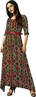 Long Kurti Kurta Designer Rayon Indian Tunic Women