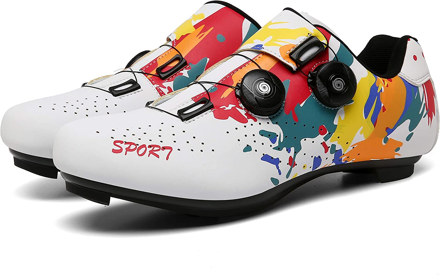 QFJB Men Road Bike Shoes Peloton Compatible Max 59% OFF Year-end annual account Women's with