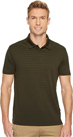 Perry Ellis - Short Sleeve Striped Jacquard Polo