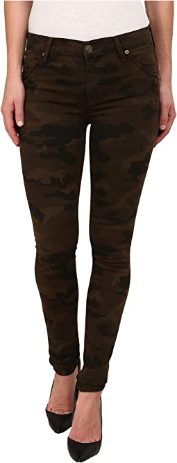 Lilly Mid Rise Ankle Skinny w/ Flap Jeans in Combat Combo