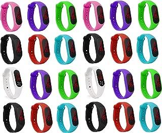 LEMONADE Silicone Unisex Slim Digital LED Pack de 25 Pulseras para niños y niñas. Reloj de Pulsera devolución para niños.