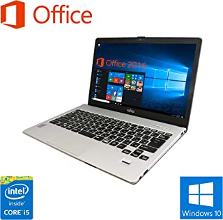 【Microsoft Office 2019搭載】【Win 10搭載】富士通 S904/H/第四世代Core i5-4300U 1.9GHz/新品メモリー:8GB/新品SSD:480GB/Webカメラ/HDMI/Bluetooth/USB 3.0/13.3インチWQHD液晶(2560×1440ドットト)/無線LAN搭載/中古ノートパソコン (SSD:480GB)