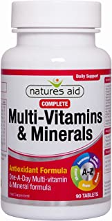 Natures Aid Complete Multi-Vitamins & Minerals, 90 Tablets