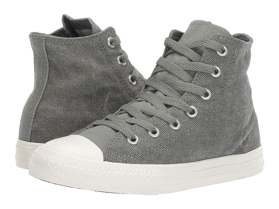Converse Kids Chuck Taylor All Star Washed Out Hi (Little Kid) (Vintage Lichen/Egret/Egret) Boys Shoes