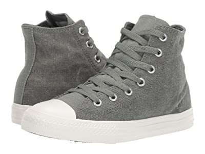 Converse Kids Chuck Taylor All Star Washed Out Hi (Little Kid) (Vintage Lichen/Egret/Egret) Boys Shoes
