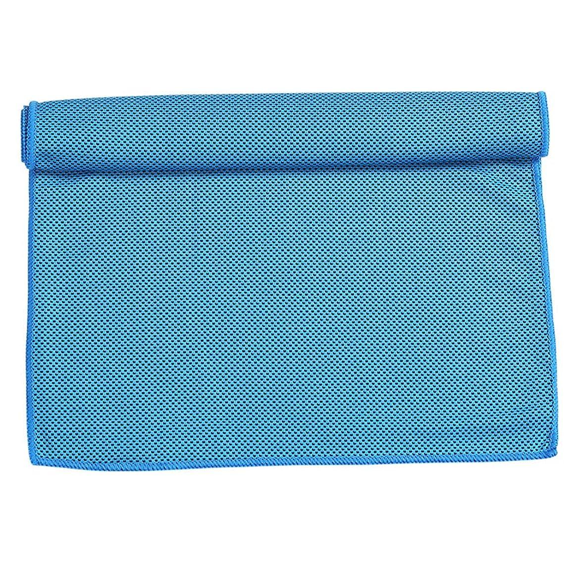 シティ申請者シンカンクールタオル吸水速乾スポーツタオル男女大人子供水泳ビーチタオルスパ-blue-30*100CM