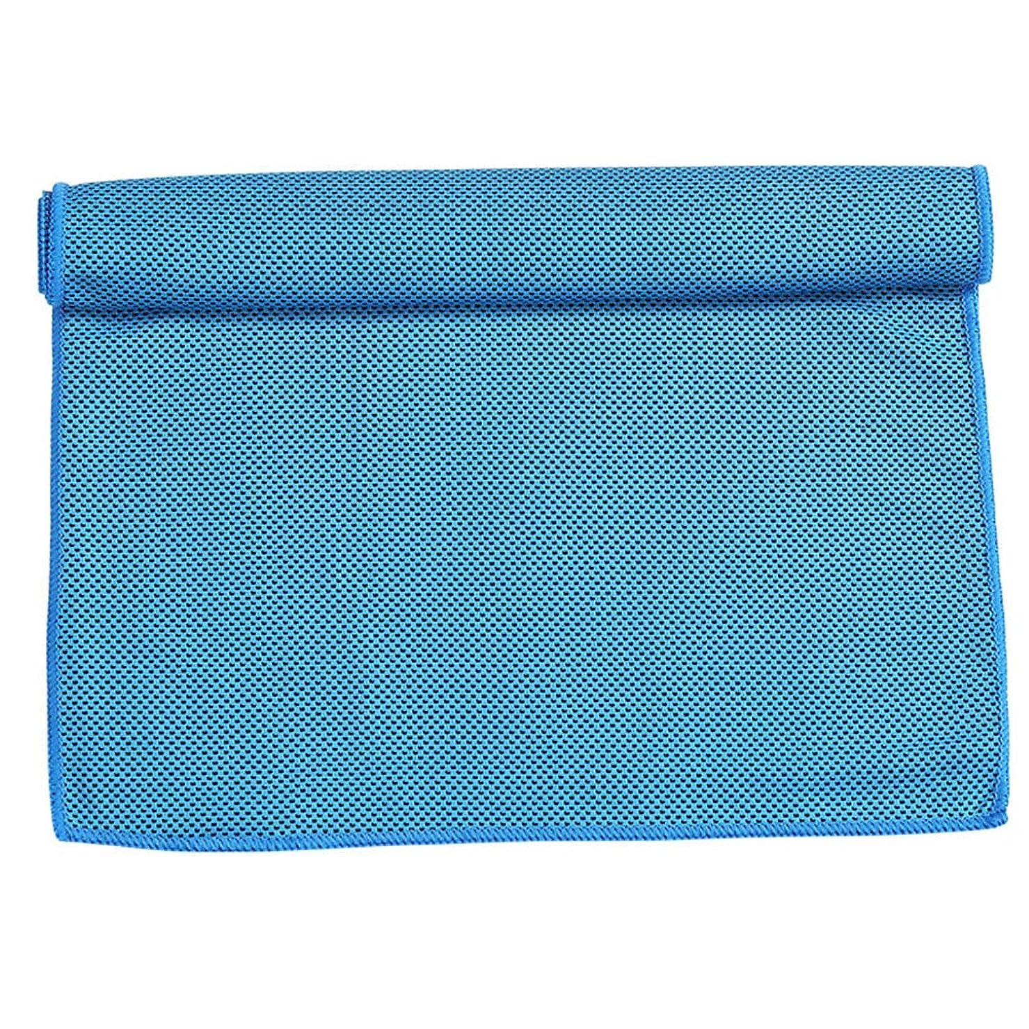 便利さ賞賛する悪質なクールタオル吸水速乾スポーツタオル男女大人子供水泳ビーチタオルスパ-blue-30*100CM