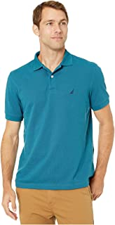 Nautica Short Sleeve Solid Deck Shirt Blue SM