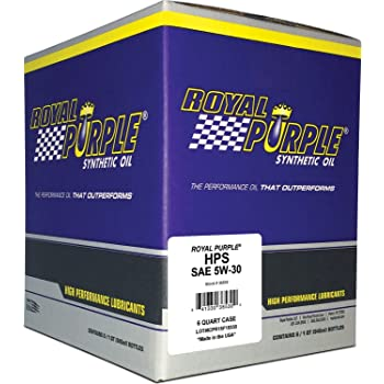 Royal Purple 31530 / 301150 HPS Street Synthetic Motor Oil 5W30 Pack of 6 Quarts
