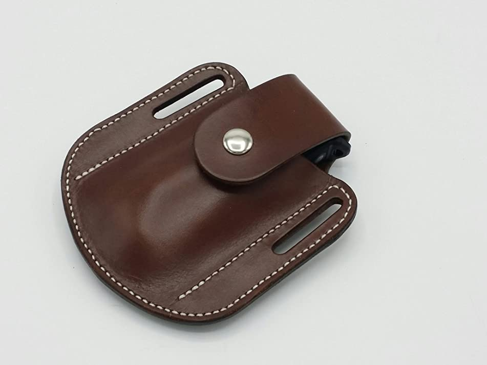 Leatherman - Raptor Shears Scissors Leather Sheath Case Holster with Snap Strap Closure, Brown