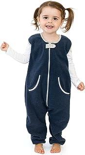 baby deedee Sleep Fleece Kicker Sack with Feet, Wearable Blanket Sleeper, 2-4T, Navy