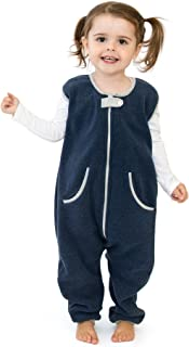 baby deedee Sleep Fleece Kicker Sack with Feet, Wearable Blanket Sleeper, 2-4T, Navy