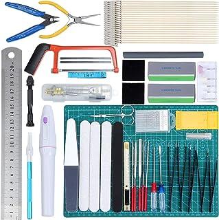 WiMas 64 Pièces Modeler Basic Tools Kit, Gundam Modèle Outils Kit, Hobby Building Craft Set pour la Construction du modèle...