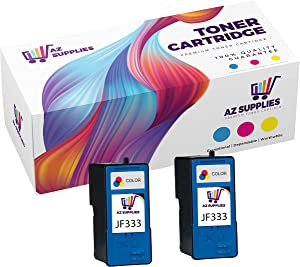 AZ Supplies Remanufactured Inkjet Cartridge Replacement for Dell JF333 310-7518 310-7853 KF868 PG324 Compatible with All-in-One 725 All-in-One 810 Color 2 Pack