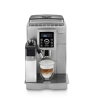De'longhi ECAM 23.460.SB Kaffeevollautomat (15 bar Druck, Automatik-Cappuccino-System, abnehmbarer Wassertank 1,8 l, LCD-Panel, automatische Reinigung) silber/schwarz