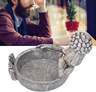 Smoking Accessories, Smoking Ashtray, High Temperature Resistance Exquisite Workmanship 4.7x4.7in Resin Home for Ornament