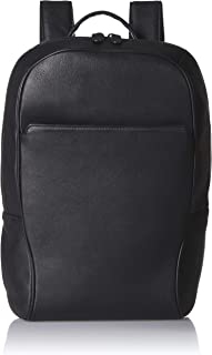 Maruse Leather Backpack Laptop Backpack Bag - Made in Italy (Black)