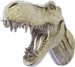 Near and Deer Faux Taxidermy T-Rex Dinosaur Head Wall Mount, Bronze