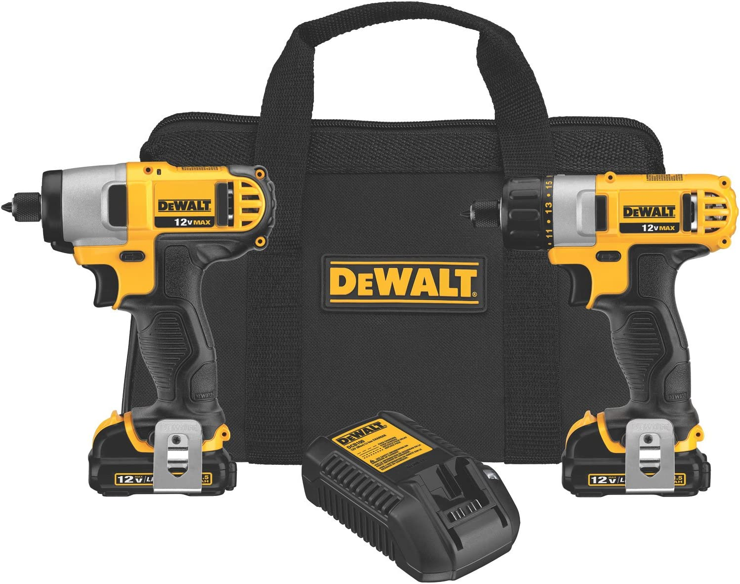 DEWALT SEAL限定商品 12V Cordless ギフ_包装 Screwdriver Impact DCK21 Combo Driver Kit