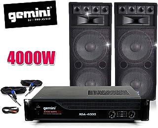 Pack SONO AMP GEMINI, Speakers BM Sonic 2x1000W