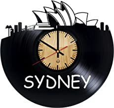 Welcome Dzen Store Sydney Record Wall Clock - Get unique of living room wall decor - Gift ideas for girls and boys – Big City in Australia Unique Art Design