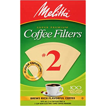Melitta Cone Coffee Filter #2 100 Count- Natural Brown