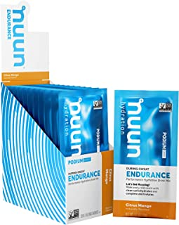 Nuun Endurance | Workout Support | Electrolytes & Carbohydrates (Citrus Mango, 12 Servings - Sachets)