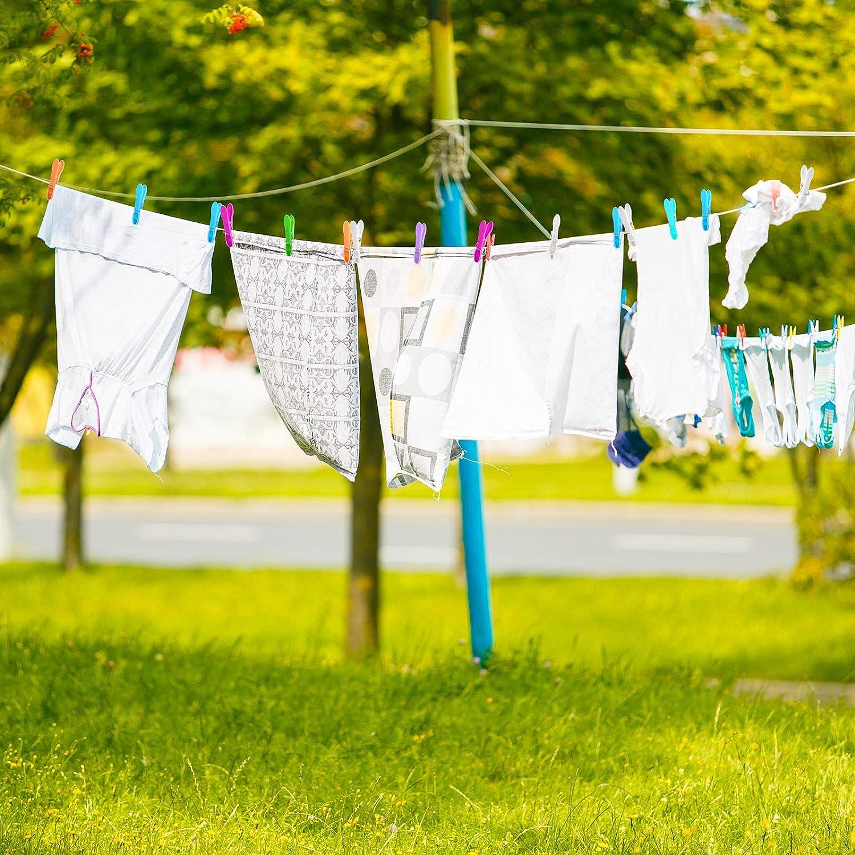 pinzas para ropa de casa 6 colores 48 pinzas para ropa pinzas fuertes resistente al viento Aneco