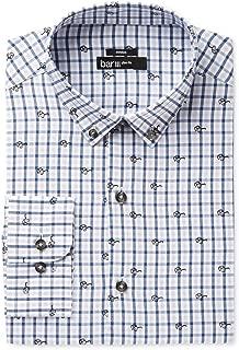 Mens Printed Button Down Dress Shirt