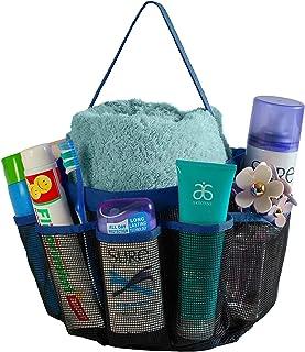 CHESHTA Travel Mesh Shower Caddy with 8 Storage Pockets Bag - Hanging Tote Toiletry Bath Organizer Bag - Sports-Gym-Outdoo...
