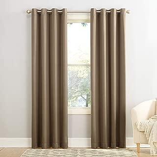 "Sun Zero Barrow Energy Efficient Grommet Curtain Panel, 54"" x 84"", Mocha Brown"