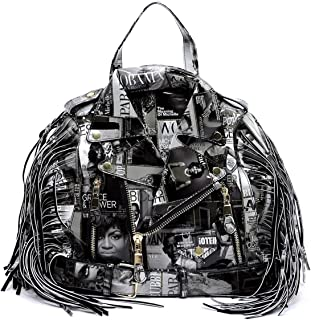 Glossy Magazine Cover Collage Backpack Michelle Obama Handbag Fashion Backpack