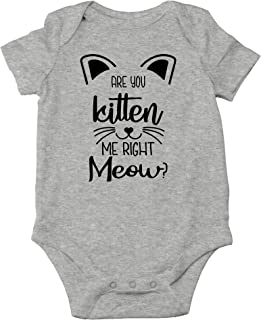 You Kitten Me Right Meow - Funny Crazy Cat Lover Outfit - Cute Infant One-Piece Baby Bodysuit
