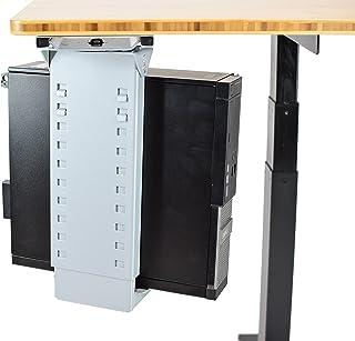 CPU1 under desk steel cpu holder swivels 360 adjustable height width metal computer PC cage ergonomic sit stand up standin...