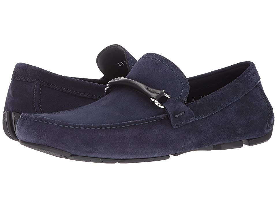 Salvatore Ferragamo Granprix Driving Loafer (Blue Marin) Men