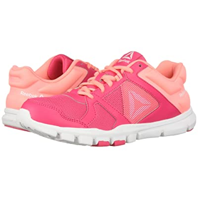 Reebok Kids Yourflex Train 10 (Little Kid/Big Kid) (Pink/Light Pink) Girls Shoes