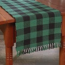 Park Designs 113-13BG Forest Wicklow Check Table Runner, 54-inch Length