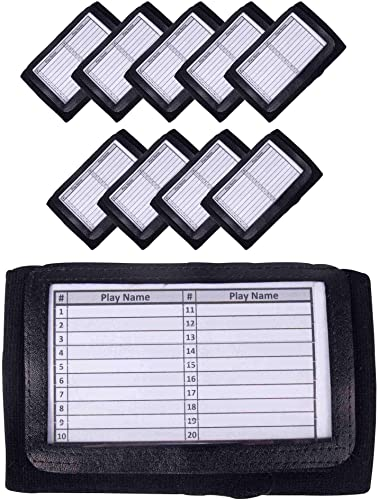 high quality GSM lowest Brands Quarterback (QB) Play Wristband - Adult Size - Pro Football Armband Playbook - discount 10 Pack (Black) outlet sale