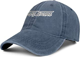 Mens Women's Cowboy Hat Krispy-Kreme-Doughnuts-Plaid-Printing- Washed Cotton Adjusted Sport Baseball Cap